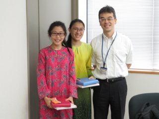 With Prof. Terada, Head of Pharmacy